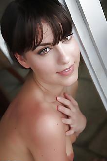 Lorena B in Cenar by Erro garcia indoor brunette hazel eyes petite shaved tight pussy small tits custom latest