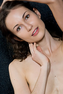 Nika D in Quiet Time by Rylsky indoor brunette brown eyes shaved