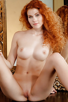 Adel C in Alishu by Luca Helios indoor redhead hazel eyes bo...