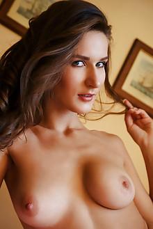 Elina in Kohae by Arkisi indoor brunette blue eyes boobies t...