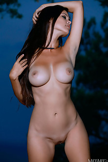 Martina Mink in Set A Mood by Matiss outdoor sunny seaside brunette black hair blue eyes boobies busty shaved pussy custom