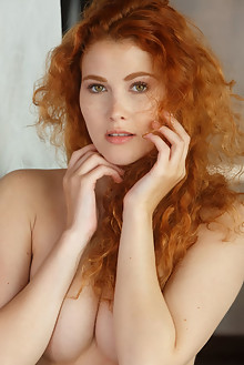 Adel C in Reyza by Luca Helios indoor redhead hazel eyes fre...