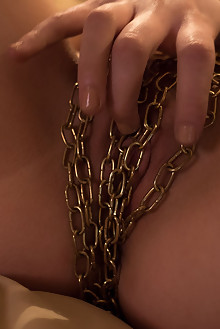 Ayza in Golden Ride by Xanthus indoor brunette shaved fingering