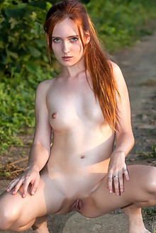 Presenting May by Sergey Skokov outdoor sunny redhead hazel eyes small tits shaved pussy latest