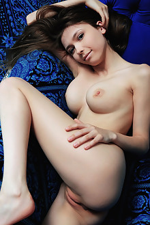 Mila Azul in Feelin Blue by Arkisi indoor brunette green eyes boobies shaved pussy