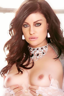 Sovereign Syre in Heaven Sent by Holly Randall indoor brunette black hair blue eyes boobies shaved tight hips latest