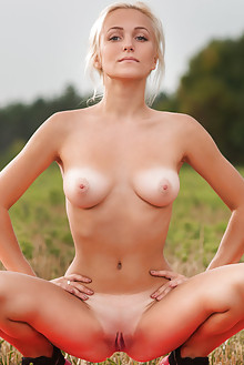 Aislin in Sairye by Karl Sirmi outdoor blonde blue eyes boobies shaved tight pussy ass tanned latest