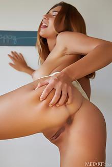 Belka in Golden Girl by Erro indoor blonde brown eyes boobies tanned shaved pussy ass custom