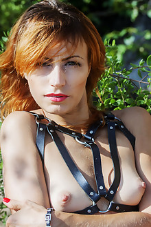 Lesma in Solstice by Angela Linin outdoor beach redhead green eyes tattoo shaved pussy latest