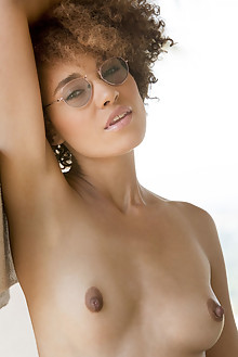 Presenting Sheila J by Charles Lightfoot indoor brunette hazel eyes ebony shaved latest