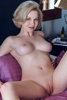 Presenting Kery by Alex Lynn indoor blonde blue eyes boobies shaved tight pussy custom