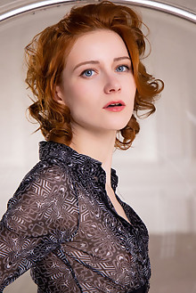 Rona Talin in Amber Curls by Nudero indoor redhead blue eyes...
