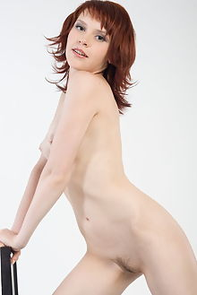 anelie red and white rylsky indoor redhead blue boobies hairy unshaven pussy tight