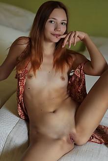 Janey in Open Jumper by Arkisi indoor brunette hazel eyes sh...