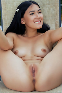 Kimiko in See The View by Arkisi outdoor asian brunette blac...