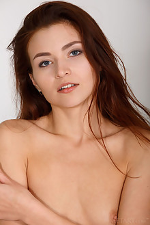 Berenice in Caruna by Luca Helios indoor redhead blue eyes small tits shaved ass pussy labia custom latest