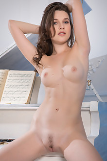 Serena Wood in Musical Fantasy by Nudero indoor brunette blue eyes boobies trimmed pussy hairy