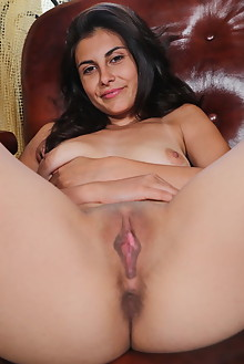 Remira Rivas in All Fours by Leonardo indoor brunette brown eyes boobies shaved pussy