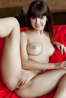 Zelda B in Seva by Rylsky indoor brunette brown eyes boobies shaved pussy labia wet custom latest