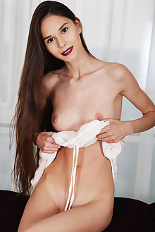 Leona A in Vivid by Flora mia indoor brunette brown eyes shaved