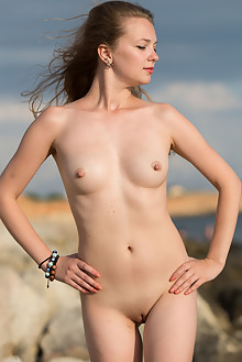 Presenting Sidney by Marlene outdoor brunette brown eyes beach sunny shaved tight pussy ass latest