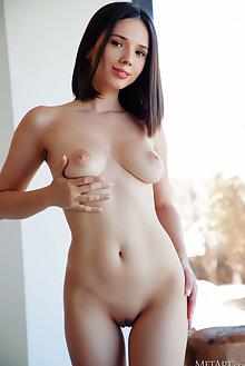 Presenting Eve Sweet by Arkisi indoor brunette black hair brown eyes boobies shaved pussy ass custom