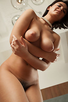 sanita nystra ron offlin indoor brunette brown busty boobies unshaven hairy pussy