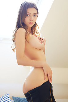 Mila Azul in Zipped Up by Erro indoor brunette green eyes boobies busty shaved pussy ass