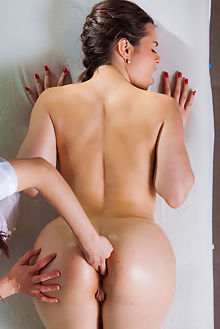 nekane arwen gold amorous alis locanta indoor brunette boobies shaved pussy ass fingering oiled