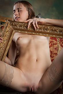 Gracie in Darteni by Ron Offlin indoor brunette hazel eyes s...