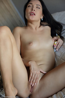 Presenting Black Fox by Flora indoor brunette black hair blue eyes shaved pussy latest
