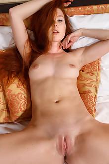 Mia Sollis in Srinee by Luca Helios indoor redhead green eye...