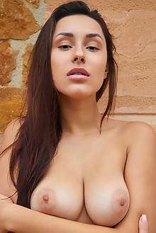 Angelina Socho in Socho Beauty 2 by Erro outdoor brunette brown eyes boobies shaved pussy custom