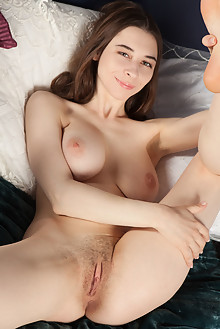 Clary in Fragrant by Ron Offlin indoor brunette brown eyes boobies shaved pussy ass