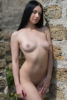 Veronica Snezna in Veronica Snezna by Marlene outdoor sunny brunette black hair boobies shaved pussy