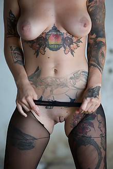 Stacy Cloud in Loneliness by Marlene indoor brunette bornw eyes tattooboobies shaved tight pussy latest