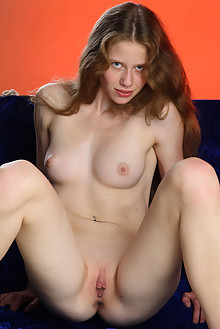 Nicole in Velvet Girl by Thierry Murrell indoor brunette blue eyes shaved pussy labia