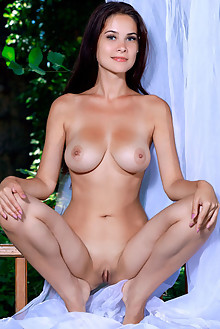 Martina Mink in Dreamer by Matiss indoor brunette blue eyes boobies shaved pussy