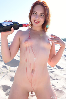 Valery Leche in Day Drink by Fabrice outdoor sunny beach red...