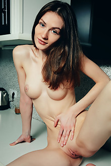 Keela C in Por Fin by Arkisi indoor brunette blue eyes boobies shaved pussy fingering feet