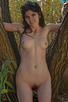 Stasiya in Grasslands by Stanislav Borovec outdoor brunette shaved