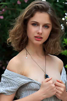 Clarice in Delane by Rylsky outdoor brunette blue eyes petit...