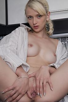 nika n teasing you antares indoor blonde blue shaved pussy b...