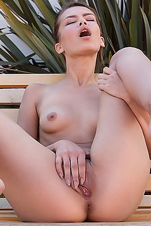 Laina in Elegant by Koenart outdoor brunette hazel eyes small tits shaved pussy fingering