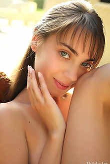 Sofy Bee in Quvavilebi by Rylsky outdoor sunny brunette blue eyes boobies hairy unshaven