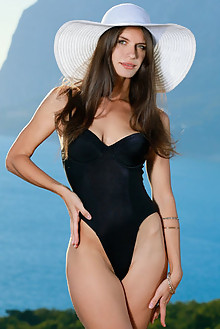 Yasmina in Desarina by Matiss outdoor sunny seaside brunette...