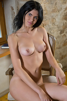 Hanna Lace in Hanna Lace by Tora Ness indoor brunette black hair blue eyes boobies shaved pussy ass