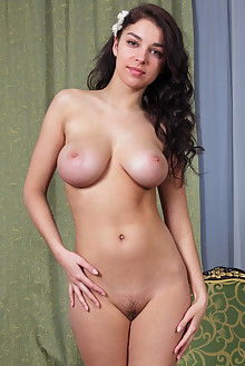 Evita Lima in Asztalon by Rylsky indoor brunette black hair hazel eyes boobies busty shaved pussy ass
