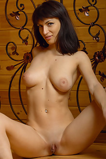 Olesya D in At The Cabin by Max Asolo indoor brunette black hair brown eyes boobies shaved ass pussy latest