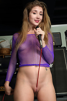 Audrey Hempburne in Studio Time indoor blonde boobies shaved toys